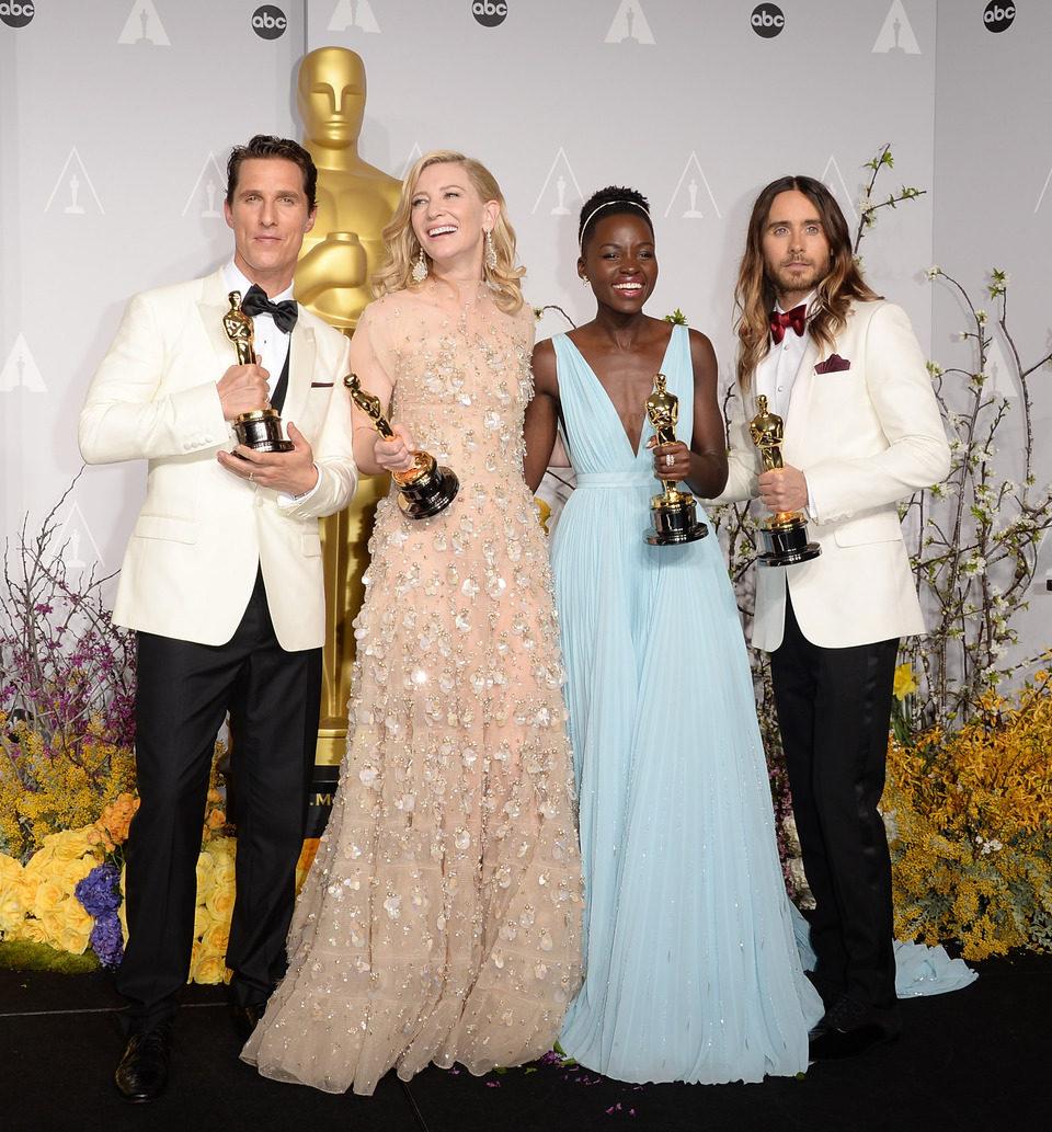 Matthew McConaughey, Cate Blanchett, Lupita Nyong'o y Jared Leto en los Oscar 2014