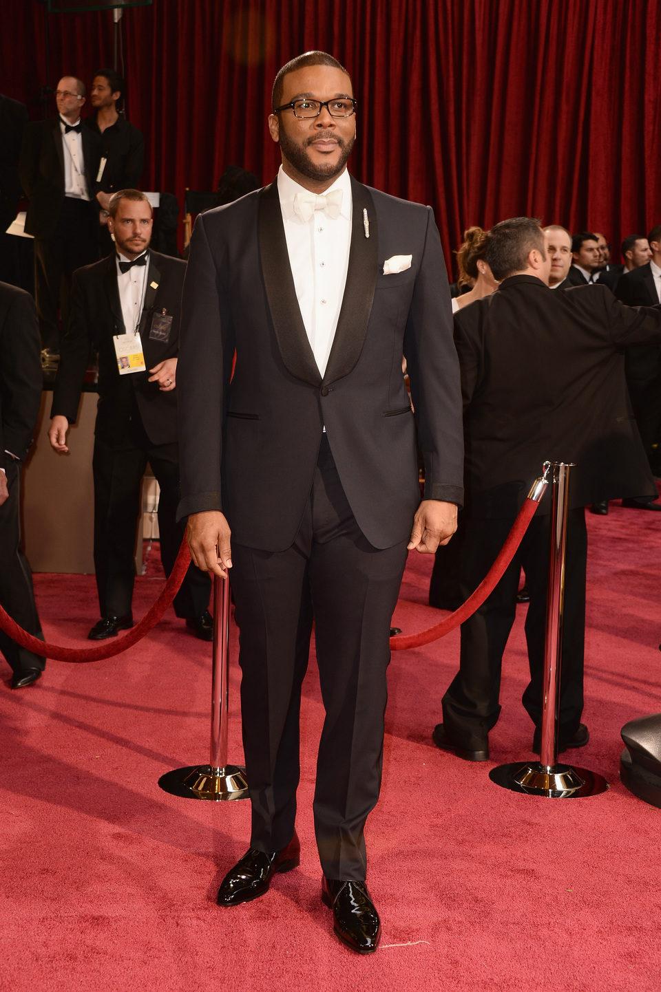 Tyler Perry en la alfombra roja de los Oscar 2014