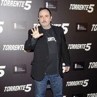 Carlos Areces en la celebración del fin del rodaje de 'Torrente 5'