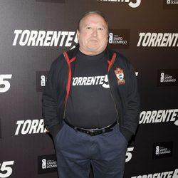 Fernando Esteso en la celebración del fin del rodaje de 'Torrente 5'
