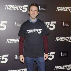 Julián López en la celebración del fin del rodaje de 'Torrente 5'