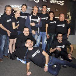 El equipo de 'Torrente 5' en la celebración del fin del rodaje