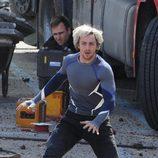 Aaron Taylor-Johnson como Mercurio en el rodaje de 'Los Vengadores: La era de Ultron'