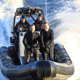 Daniel Craig y Rory Kinnear en el rodaje de 'SPECTRE' en Londres