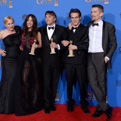 El equipo de 'Boyhood', ganadora del Globo de Oro a la mejor película de drama