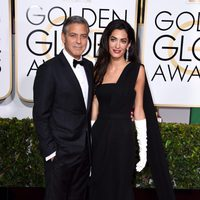 George Clooney and Amal Alamuddin at the Golden Globes 2015 red carpet