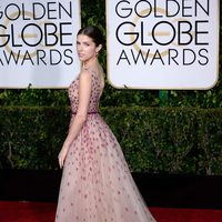 Anna Kendrick at the Golden Globes 2015 red carpet