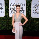 Kate Beckinsale en la alfombra roja de los Globos de Oro 2015