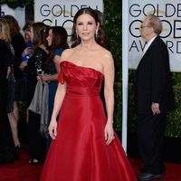 Catherine Zeta-Jones at the Golden Globes 2015 red carpet