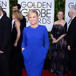 Amy Poehler en la alfombra roja de los Globos de Oro 2015