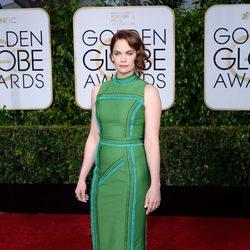 Ruth Wilson en la alfombra roja de los Globos de Oro 2015