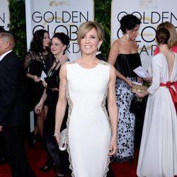 Felicity Huffman en la alfombra roja de los Globos de Oro 2015