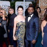 David y Jessica Oyelowo en la alfombra roja de los Globos de Oro 2015