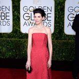 Julianna Margulies en la alfombra roja de los Globos de Oro 2015