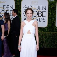 Emily Blunt at the Golden Globes 2015 red carpet