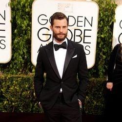 Jamie Dornan en la alfombra roja de los Globos de Oro 2015