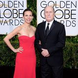 Robert Duvall y Luciana Pedraza en la alfombra roja de los Globos de Oro 2015