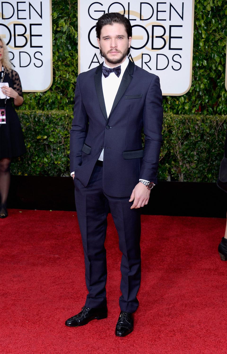 Kit Harington en la alfombra roja de los Globos de Oro 2015