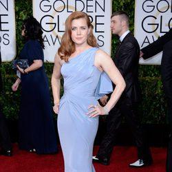 Amy Adams en la alfombra roja de los Globos de Oro 2015