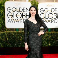 Laura Prepon at the Golden Globes 2015 red carpet