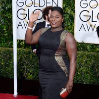 Danielle Brooks at the Golden Globes 2015 red carpet