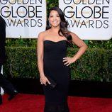 Gina Rodríguez en la alfombra roja de los Globos de Oro 2015