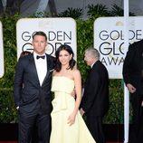 Channing Tatum y Jenna Dewan en la alfombra roja de los Globos de Oro 2015