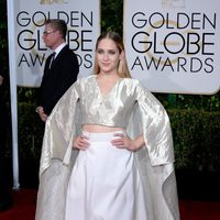 Jemima Kirke at the Golden Globes 2015 red carpet