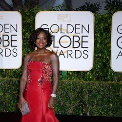 Viola Davis en la alfombra roja de los Globos de Oro 2015