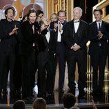 El equipo de 'El Gran Hotel Budapest', mejor película de comedia en los Globos de Oro 2015