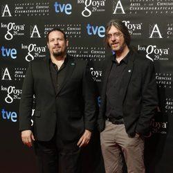 Esteban Roel y Juanfer Andrés en la fiesta de los nominados a los Premios Goya 2015