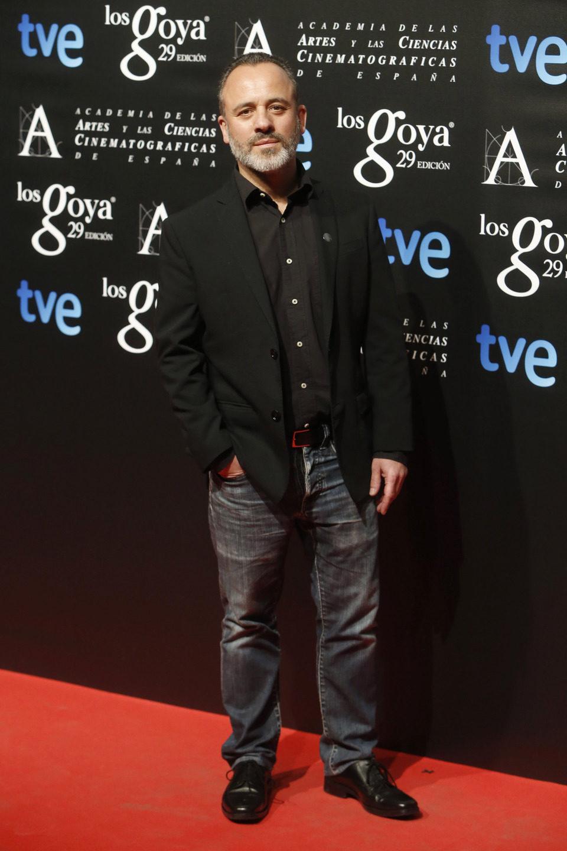 Javier Gutiérrez en la fiesta de los nominados a los Premios Goya 2015