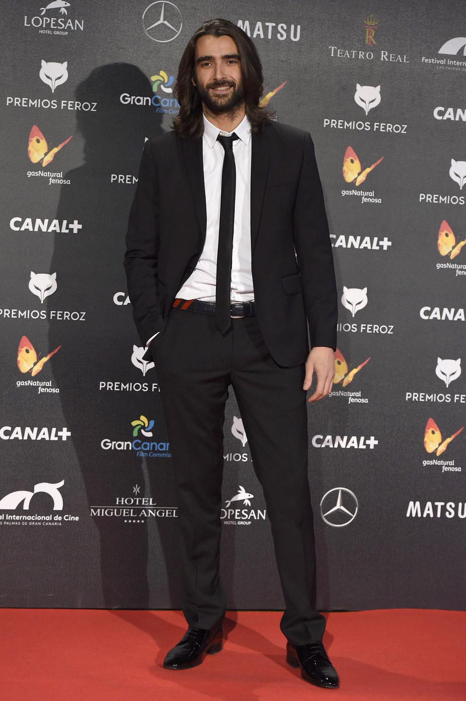 Aitor Luna en los Premios Feroz 2015