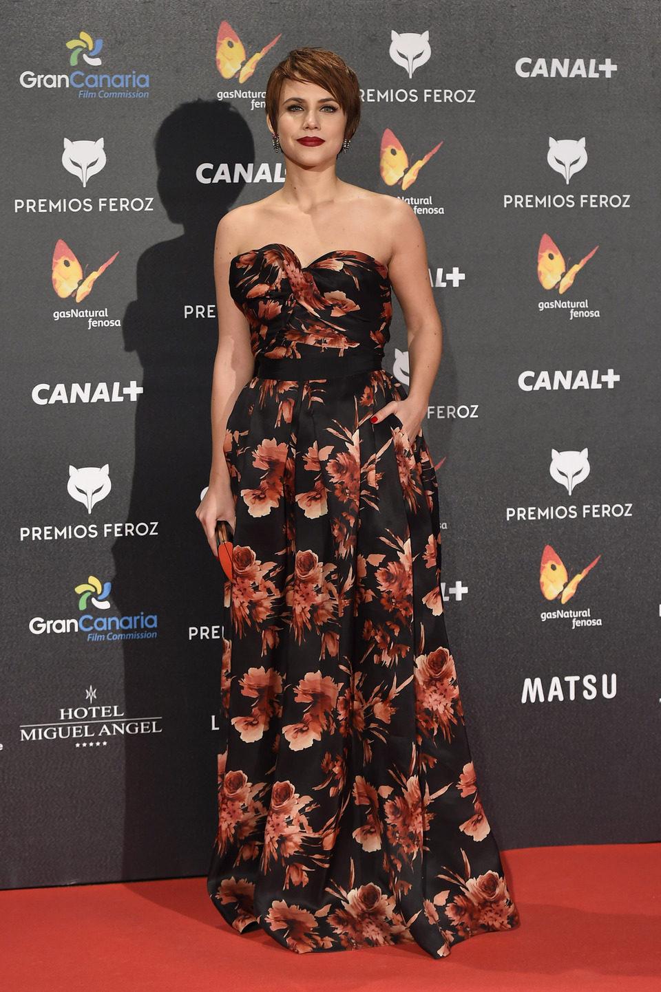 Aura Garrido en los Premios Feroz 2015