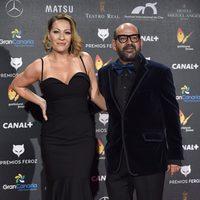 José Corbacho y su mujer, Anna Barrachina, en los Premios Feroz 2015