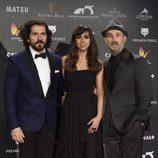 José Sacristán, Carmen Ruiz y Javier Cámara en los Premios Feroz 2015