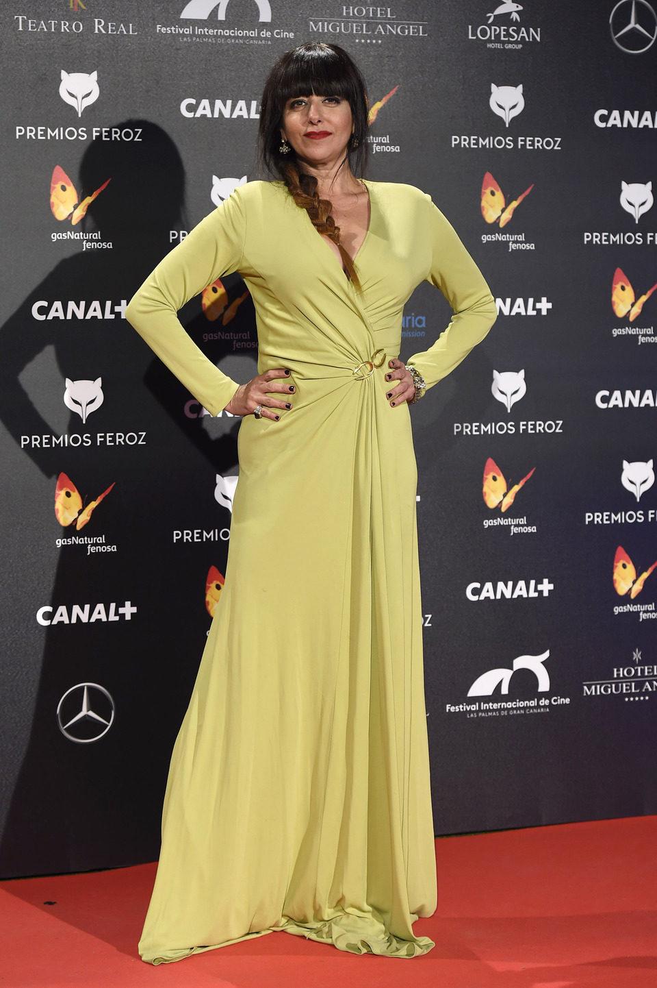Yolanda Ramos en los Premios Feroz 2015
