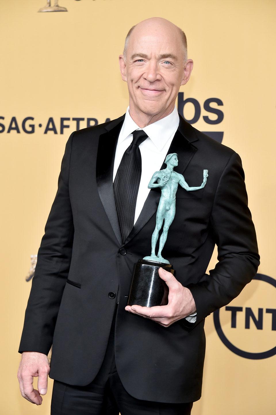 J.K. Simmons, winner of the SAG 2015, for the Best ...