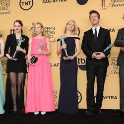 El equipo de 'Bridman' ganador del SAG 2015 a mejor reparto