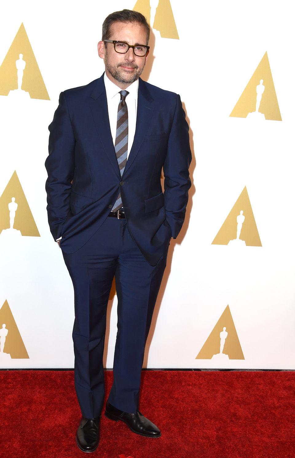 Steve Carell en el almuerzo de los nominados a los Oscar 2015
