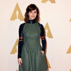 Felicity Jones en el almuerzo de los nominados a los Oscar 2015