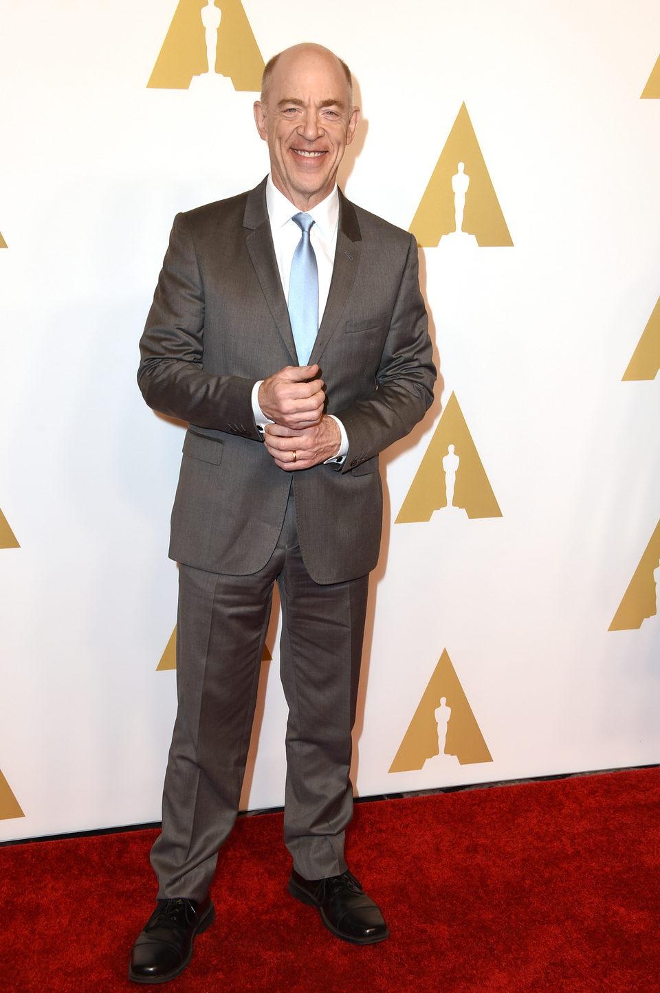 J.K. Simmons en el almuerzo de los nominados a los Oscar 2015