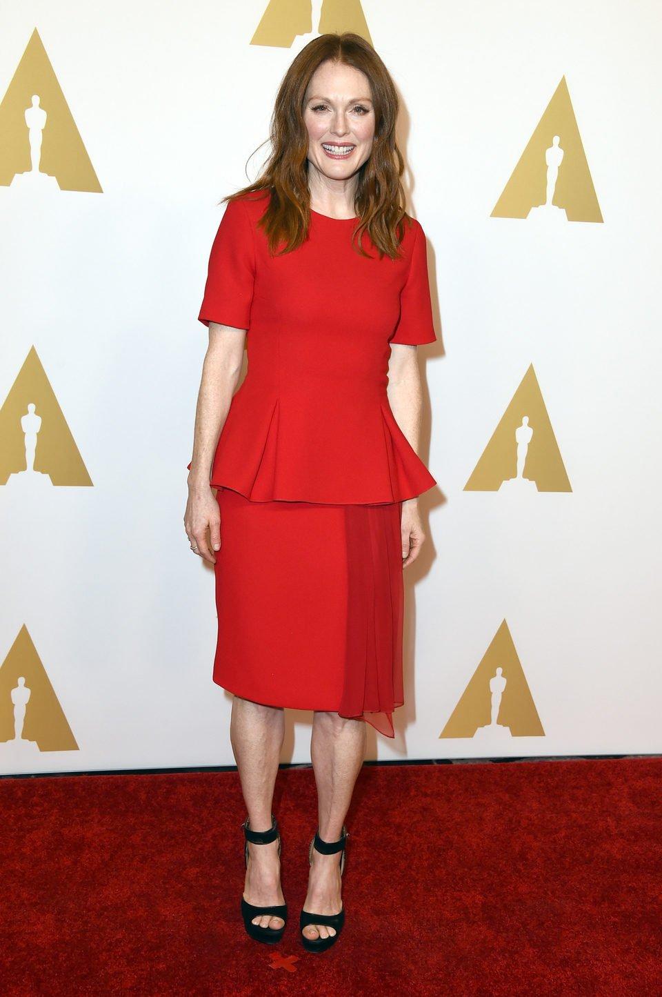 Julianne Moore en el almuerzo de los nominados a los Oscar 2015