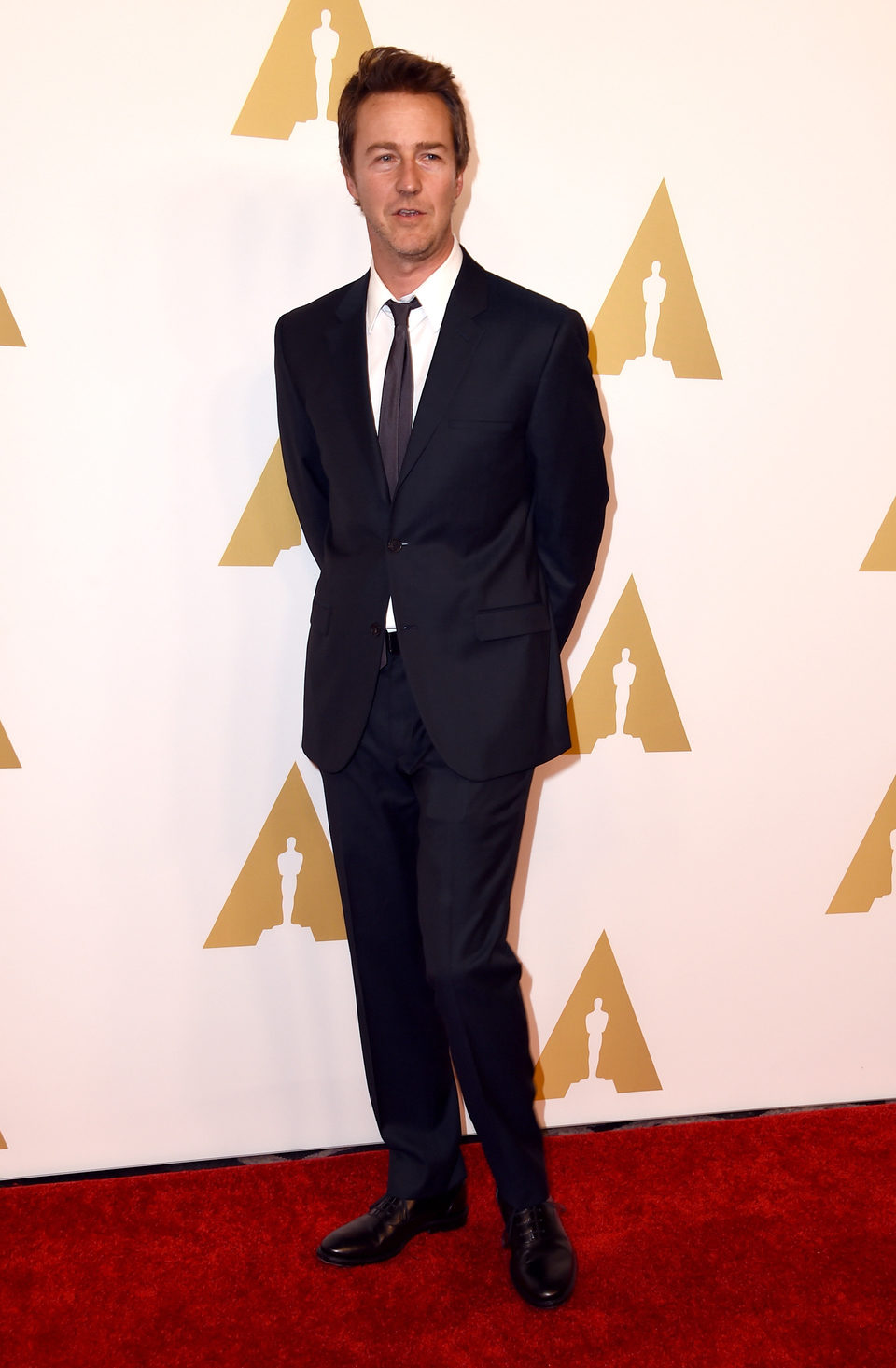 Edward Norton at the Oscars' Nominees Luncheon 2015 ...