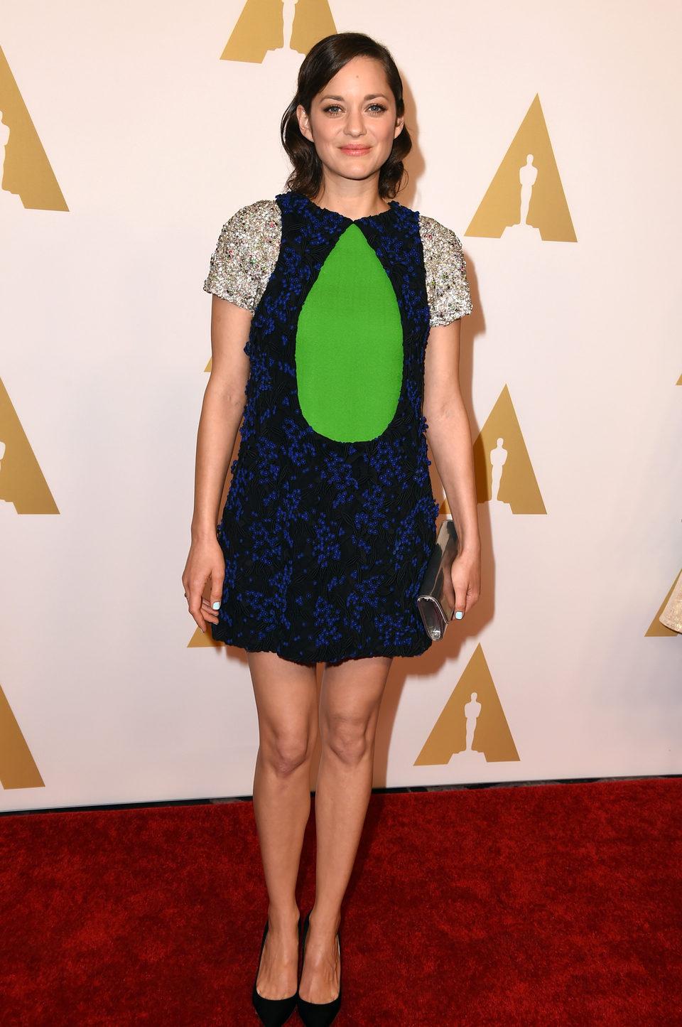 Marion Cotillard en el almuerzo de los nominados a los Oscar 2015