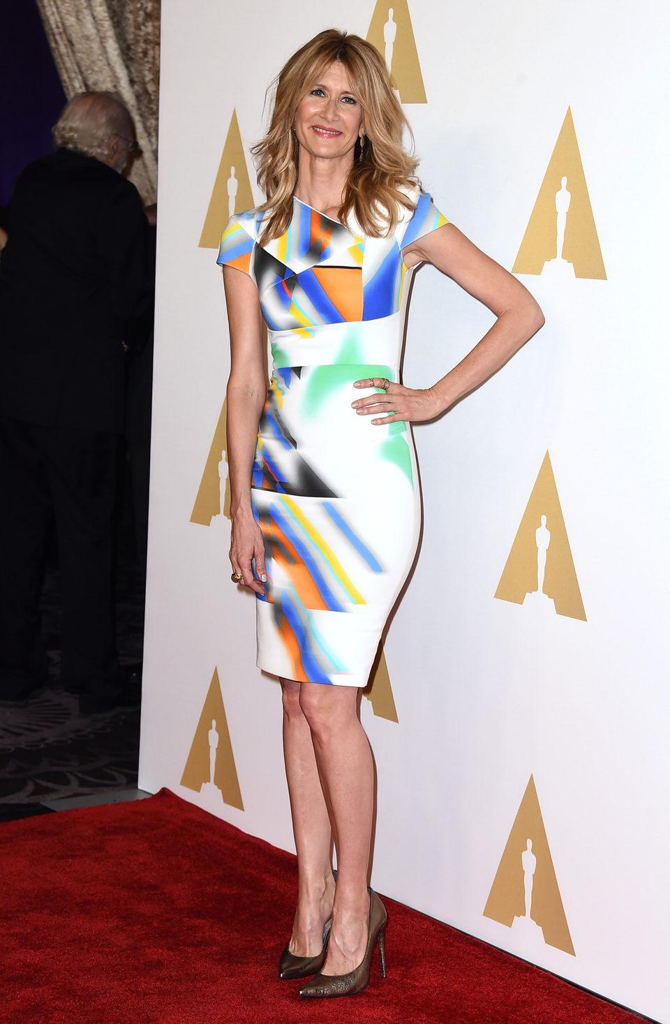Laura Dern en el almuerzo de los nominados a los Oscar 2015
