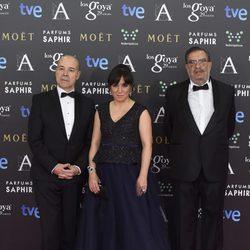 Antonio Resines, Judith Colell y Enrique González Macho en los Goya 2015