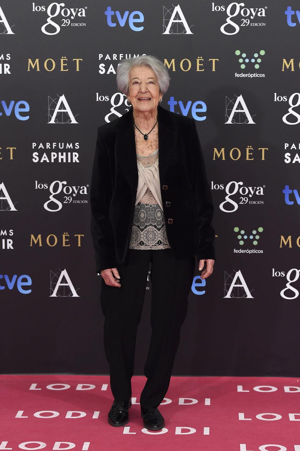 Asunción Balaguer en los premios Goya 2015