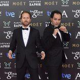 Alfonso Sánchez y Alberto López en los premios Goya 2015