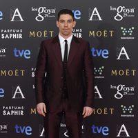 Adrián Lastra en la alfombra rosa de los Goya 2015